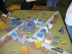 Photo 23 - Just one of the many tables dedicated to 'Flames of War' contests.