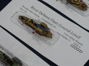 Photo 25 - Close-up of one of the Confederate vessels slated for use in the Defense of New Orleans Civil War game.