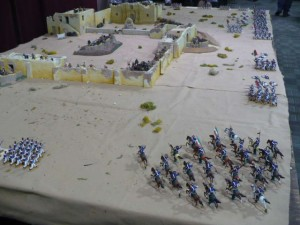 Photo 27 - A convention favorite: The Alamo in 54mm. I saw Uncle Duke inspecting the set up.