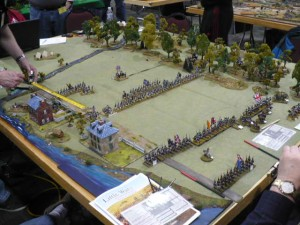 Photo 16 - A very nice looking table of the 1812 War Battle of Chippewa. The figures were 28mm and the rules were 'Carnage and Glory.'