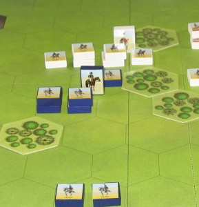 End of Turn 6 (close-up of French left)