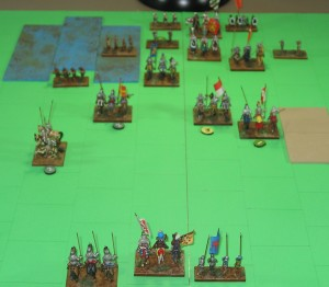 End of Turn 11. Detail of the fighting in the center.