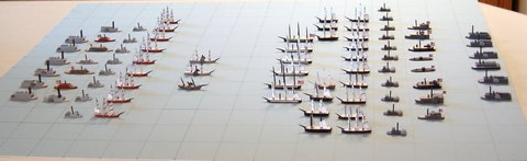 This shows the Rebel and Federal navies.