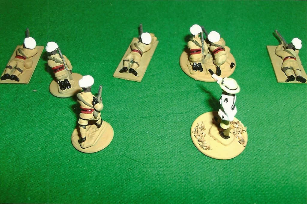 A skirmish line of Italian colonial Agordat Camel Corps troopers c1936.